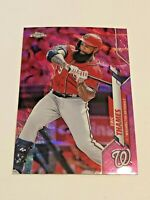 2020 Topps Chrome Update Baseball Pink Refractor #43 - Eric Thames - Nationals