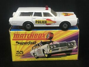 MIB Matchbox MB55 B2 Mercury Police Car w Type H Box