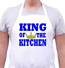 Cooking Apron For Men King Of The Kitchen Novelty Chef Aprons by CoolAprons
