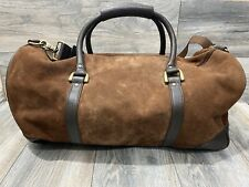 Marlboro Real Leather Rugged Duffle Bag In Brown | Large