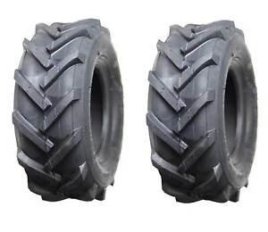 Set of 2, Deli 13x5.00-6 Tiller Trencher Lug Traction AG Tires, 4 Ply, Tubeless