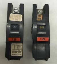 (Lot Of 2)Federal Pacific Fpe 15A 1 Pole Breaker 15 amp 15 Na115