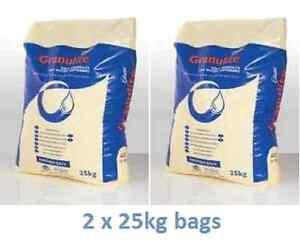 2 x 25kg (50kg) bags of Granular British salt - Water softener - Dishwasher salt
