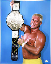 WWE RONNIE GARVIN HAND SIGNED AUTOGRAPHED 16X20 PHOTO INSCRIBED WITH PSA DNA COA
