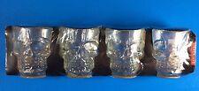 Skull Shot Glasses Kikkerland Set of 4 Halloween NEW