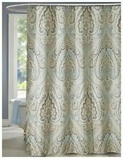 LanMeng Classic Paisley Extra Long Fabric Shower Curtain 72x78
