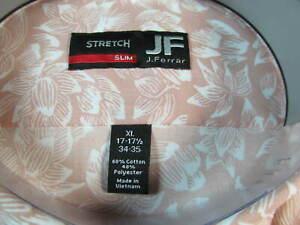 NWT J. FERRAR SLIM FIT STRETCH LONG SLEEVE DRESS SHIRT, Pink Lotus Floral Print