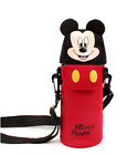 """Disney Mickey Mouse Face Water Bottle Cross Bag Cover Bag 3.3"""" x 9"""" Kids Gift"""