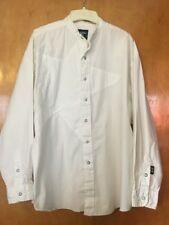 Brooks & Dunn Panhandle Slim VTG Mens Banded Collar Western Shirt L Cowboy