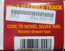 Peco Streamline HOn3 #552-SL-1500 (25pkg) Code 70 Narrow Gauge Mainline Wooden