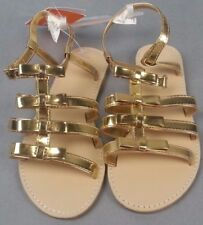 NWT NEW  Gymboree Island Hopper Gold Metallic Strap Sandals shoes 1 Girls