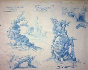 BRUCE ZICK He-Man & The MOTU 1983 SIGNED Original Production Concept Art #ZB