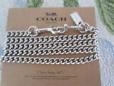 "Coach 31126 Shoulder/Crossbody Chain Strap 46""--Metal--Silver--MSRP $50--NWT"