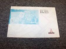Deutz B1011F FL1011F B1011F FM1011F Engine Owner Operator User Guide Manual