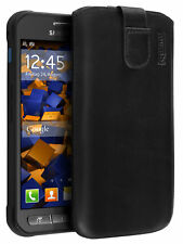 mumbi Leder Tasche f. Samsung Galaxy Xcover 3 Etui Hülle Case Cover Schutz Handy