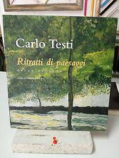 CARLO TESTI Ritratti di paesaggi MOSTRA  CATALOGO LIBRO ARTE ART BOOK grecoarte