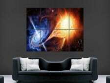 BLACK HOLE SUN SPACE  ART WALL LARGE IMAGE GIANT POSTER