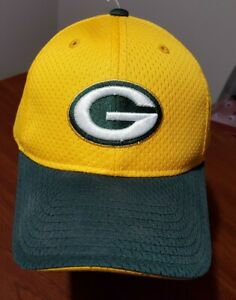 Rare NFL Green Bay Packers Reebok Adult One Size Mesh Curved Brim Cap Hat