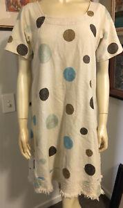 Lee Mathews 1 Embroidered Linen Shift Dress