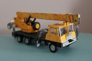 """Dinky Toys 8.5"""" COLES HYDRA TRUCK 150T CRANE Trailer Diecast 980 Yellow VINTAGE"""