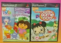 Nihao Kai-lan + Dora Purple Planet -  PS2 Playstation 2 Tested Nick Jr Game Lot