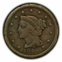 1846 1c Braided Hair Large Cent - Brothel Token - SKU-Y2740