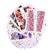 48Pcs Water Transfer Flower Nail Art Sticker Full Wraps Decals DIY Nail Decor