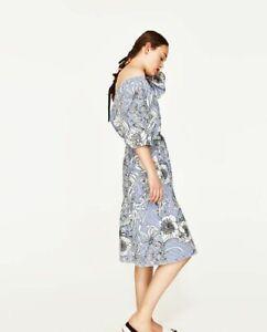 ZARA off shoulder floral dress
