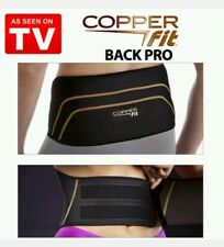 "NEW COPPER & FIT BACK PRO AS SEEN ON TV LOWER BACK PAIN RELIEF BELT FITS 39"" 50"""