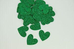 """50 Glitter Confetti 1"""" HEARTS Party Decor Table Scatter Choose Color"""