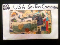 100 DIFFERENT USA OLD COMMEMORATIVE STAMPS COLLECTION LOT
