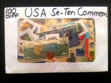 100 DIFFERENT USA COMMEMORATIVE STAMPS COLLECTION LOT