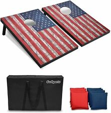 Classic Cornhole Set 8 Bean Bags Outdoor Indoor Entertainment Family Fun Games