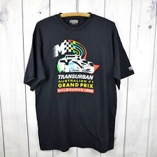 F1 Formula 1 T Shirt Australian Grand Prix Transurban 1996 Black Men 2XL XXL