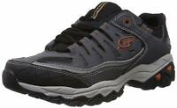 Skechers Mens Memory Fit 50125 Low Top Lace Up Running, Charcoal, Size 13.0 YDiE