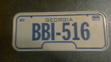 Vintage 1980 Cereal Mini Bicycle License Plate GEORGIA EUC