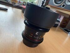 Samyang Rokinon VDSLR CINE lens 14mm t3.1 Canon EOS EF mount
