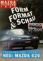 Mazda Programm 1992 Prospekt Autoprospekt 626 121 323 brosjyre