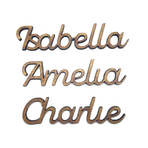 Wooden Name Personalised 4mm Thick Wedding Names Wooden Letters Scrapbook Craft