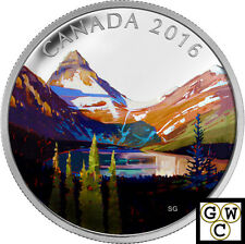 2016 The Lake-Canadian Landscapes Colorized Prf $20 Fine Silver 1oz. coin(17507)