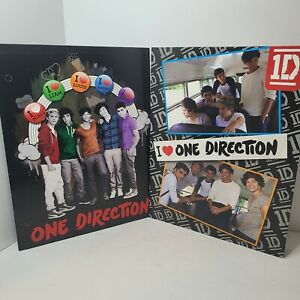 One Direction School Portfolio Folders for 3-Ring Binders 2013 Lot Of 2