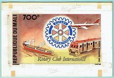 MALI 1983 ROTARY SHIP TRAIN AIRPLANE ARTWORK ESSAY ADOPTED DESIGN C478b UNIQUE