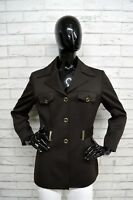 Giacca BYBLOS Donna Taglia Size 44 Cappotto Giubbino Jacket Woman Coat Marrone