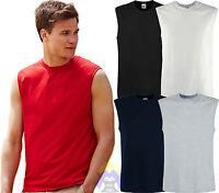 T-shirt Uomo Senza Maniche FRUIT OF THE LOOM da S a XXL Maglietta Smanicata Mens
