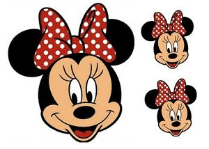 MINNIE MICKEY MOUSE FACES EDIBLE ICING SHEET BIRTHDAY CAKE CUPCAKE TOPPERS 090