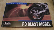2003 Buell P3 Blast Model Owners Manual