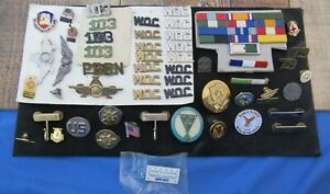 Military and Various Other Collector Pins Used Vintage Current Flying Tigers