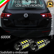LAMPADE RETROMARCIA 13 LED T15 W16W CANBUS PER VW TIGUAN MK2 6000K NO AVARIA