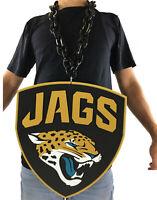 New NFL Jacksonville Jaguars BLACK Fan Chain Necklace Foam - JUMBO SIZE