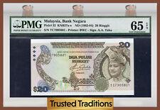 TT PK 22 1982-84 MALAYSIA 20 RINGGIT PMG 65 EPQ GEM UNCIRCULATED!